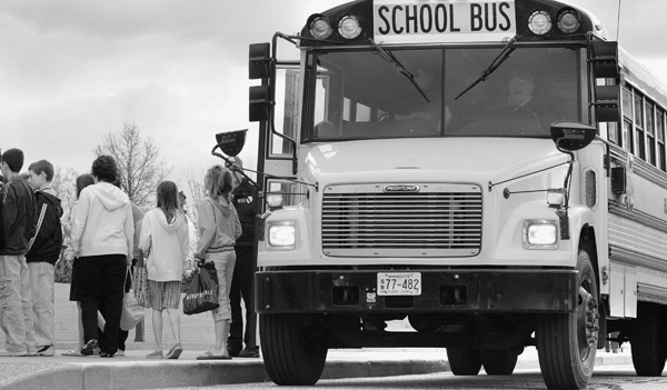 Included in the omnibus transportation policy bill is creation of an Office of Pupil Transportation Safety under the State Patrol. Among the office responsibilities would be development of a consistent recordkeeping system to document school bus inspections, out-of-service vehicles and driver files. (Photo by Andrew VonBank)