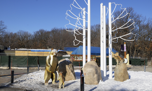 A construction project at the Minnesota Zoo is under way near Central Plaza. The zoo, along with several other entities, had some of its costs questioned in a recent bonding audit. (Photo by Tom Olmscheid)