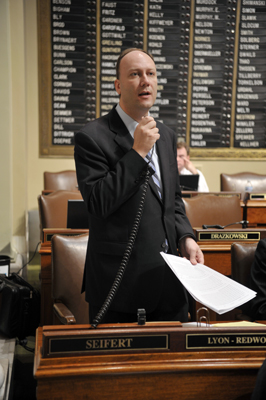 Finishing his seventh term as a House member — three serving as House minority leader — Rep. Marty Seifert is running for the governor's chair. (Photo by Tom Olmscheid)