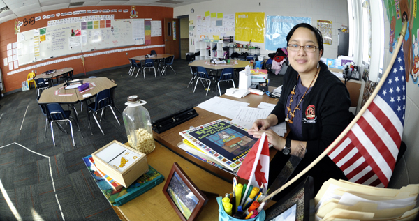 Parasa Chanramy teaches at the BEST Academy through the Teach for America program. Legislation is proposed to make it easier for people like her to become licensed. (Photo by Tom Olmscheid)