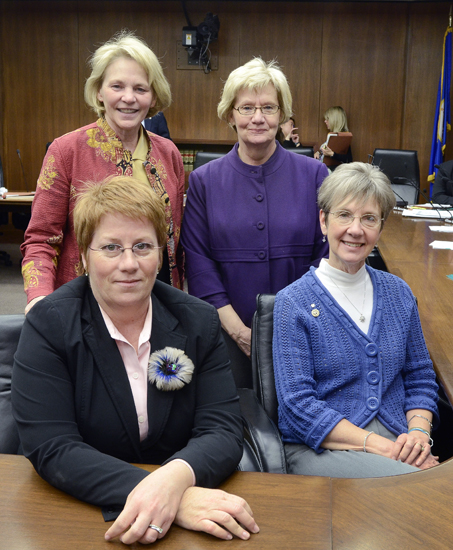Clockwise from top left: Representatives Mary Kiffmeyer (R-Big Lake), Patti Fritz (DFL-Faribault), Carolyn McElfatrick (R-Deer River) and Erin Murphy (DFL-St. Paul) serve on the House Health and Human Services Finance and Reform committees. All four have professional nursing backgrounds. Other legislators with nursing backgrounds include Rep. Karen Clark (DFL-Mpls) and Senators Kathy Sheran (DFL-Mankato) and Gretchen Hoffman (R-Vergas). (Photo by Andrew VonBank)
